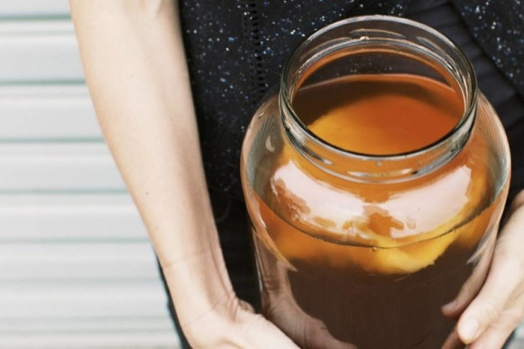 tè de kombucha listo
