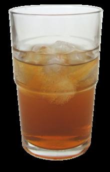 vaso de té kombucha