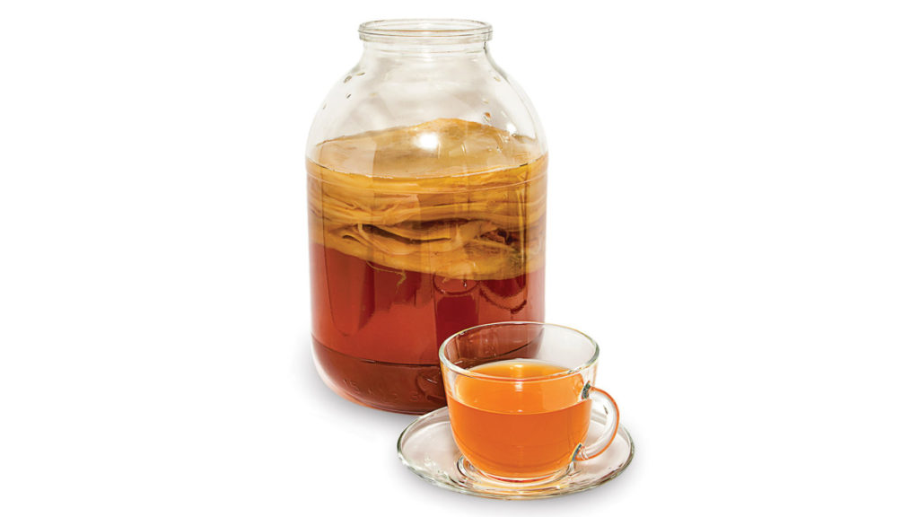 té de kombucha fresco